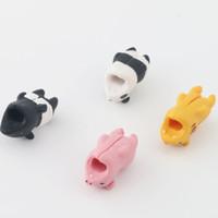 귀여운 동물 바이 츠 만화 USB 충전기 케이블 와인 더 데이터 케이블 코드 수호자 보호 주최자 아이폰 USB 케이블을 위해