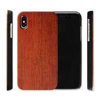 Para Iphone X XR XS Max 8 6 s más caja de madera real Venta caliente cubierta de madera del teléfono móvil de bambú Fundas para Samsung Galaxy Note 9 S9 S7 S6 edge