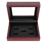 Vetrino per campane in legno Box in legno per anello 2 3 4 5 6 fori per scegliere anelli e collezione Spedizione gratuita
