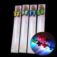 Ha portato i capelli lampeggiante Braid farfalla Decorazione Colorful incandescente luce anello Braid Peacock finger lights per ragazza bambini giocattoli Regalo di Natale