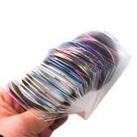 جميع لمسمار 30 قطع شريطية الشريط الخط مسمار فن الديكور ملصق diy مسمار ملصقات مزيج اللون رولز