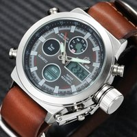 GOLDENHOUR Mode-Sport-Digital-Uhr-Mann-Quarz-Dual Time Chronograph Alarm Date Top Wasserdichte Armbanduhr