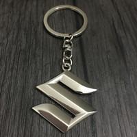Mode Suzuki Logo De Voiture Porte-clés Porte-clés Auto Emblèmes 3D clé Titulaire De Voiture clé Fob Auto Pièces Pour Suzuki Swift SX4 Grand Vitara