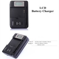 Caricabatteria universale indicatore LCD intelligente US EU AU Plug per Samsung S4 I9500 S3 I9300 NOTA 3 S5 con carica di uscita USB