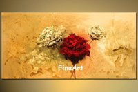 huge wall handmade abstract flower canvas painting acrylic p...