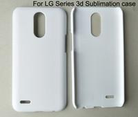 Cas de sublimation 3D pour LG V10 V20 V30 V40 Q6 Q7 Q8 K8 K10 2017 2018 G2 G3 G4 G5 G6 G7 blanc cas de téléphone mat 10pcs / lot livraison gratuite