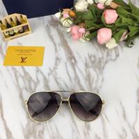 817eefe6b162 Sonnenbrille Frauen Markendesigner Sommer Stil Spiegel Doppelbrücke  Metallrahmen Luxus Sonnenbrille UV400 Mit Original Box