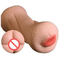 Sexe Oral Réaliste Chatte Doux TPE Artificielle Vagin Mâle Mains De La Main Coupe Poche Pussy Masturbateurs Manche Sex Toys Pour Hommes B2-1-60
