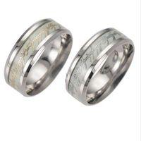 aço inoxidável Nova The Lord Of Um Anel fluorescente Glowing anéis para mulheres moda jóias Can Drop Ship