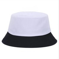 Korean jelly- colored Solid Color Bucket Hats for Men Panama ...