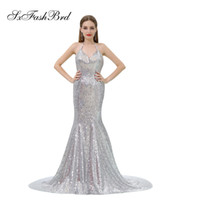 Elegant Girls Dress Halter Open Back Mermaid Sequins Lace Lo...