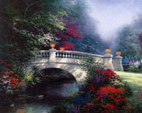 The Broadwater Bridge Thomashire Thomas Kinkade Oil Painting...