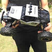 Wrangler aleación de juguete de control remoto, buggy resistente a los choques, 2.4G de tracción en las cuatro ruedas, carreras de Bigfoot