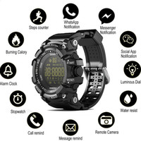 Reloj Bluetooth reloj de pulsera inteligente EX16 reloj de control remoto podómetro reloj deportivo reloj de pulsera IP67 resistente al agua para iphone ios android