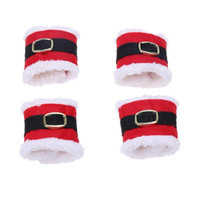 Noel Baba Kemer Toka Şekilli Noel Peçete Halkaları Peçete Tutucu Sofra Noel Ev Masa Süslemeleri için