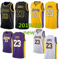 2018- 2019 New Season Men 23 LeBron James Jersey Los Angeles ...