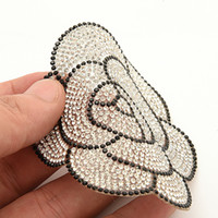 ¡Nuevo! 1 unids Sparkling Rhinestone patch Flowers Iron on Sewing Crystal Applique Para Jeans Ropa Decoraciones