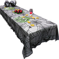 122*244CM Helloween Tablecloths Lace tablecloth black table ...