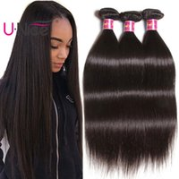 UNice Hair 8A Virgin Peruvian Straight Human Hair 3 Bundles ...