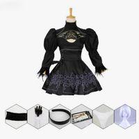 Nier Automatas 2B Costume Cosplay Yorha No. 2 Modello B Neal Era attrice Anime Costumi vestito nero cameriera