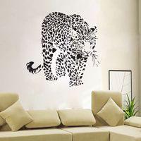 Горячая новый Тигр виниловые наклейки стены домашнего декора гостиной DIY искусства росписи наклейки съемный творческий обои