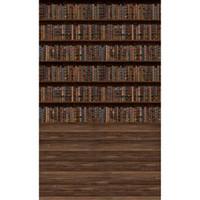 Estante de madeira da estante de livros da fotografia da estação da fotografia Fotografia Digital livros impressos Bebê crianças crianças Foto Estúdio Fundos