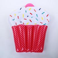 لطيف الحلوى تصميم نفخ العائمة الصف سماكة pvc الإبداعية كعكة السباحة الدائري الكبار بركة لعبة حصيرة للمياه لعبة 65bq ذ