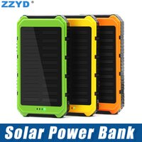 ZZYD Portable 4000mAh Solar Power Bank Dual USB External Bat...