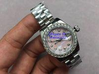 2020 المقلدة الماس الوردي الأقسام الطلب شل أفضل هدية 32MM المرأة الفولاذ المقاوم للالساعات السيدات التلقائي ساعة اليد عيد الحب