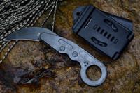 Mecânica Garra de sobrevivência de resgate Facas Karambit CS GO cortador D2 lâmina Handle Um Solid Steel caixa Kydex Bainha presente com