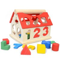 2018 New Wooden Toys House Number Letter Kids Children Educa...