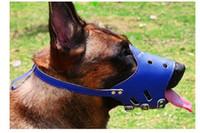 لينة بو الجلود للتعديل كمامات الكلب مكافحة النباح دغة الاستمالة التدريب الفم غطاء pet ملحق بيروس مش قناع الوردي