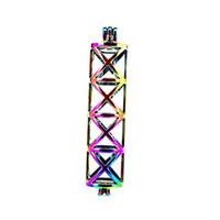 Rainbow Color Rectangle Pearl Beads Cage Locket Pendant Diffuser Aromatherapy Profumi Oli essenziali Diffusore Floating Pom