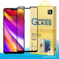 Pour LG G7 G6 G5 G4 aristo 2 Xpower V10 V20 V30 K7 K8 K20 K30 Plus 2.5D Protection d'écran en Verre Trempé Couverture Complète Pour Samsung J2 CORE