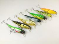 Lote 15 Señuelos de pesca articulados Minnow Crankbait Hooks 8.8g / 8cm