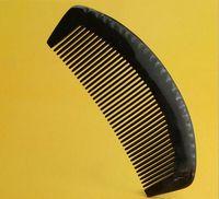 Alta calidad Natural ancho diente buey cuerno peine de pelo No estática salud cuerno de búfalo cepillo de pelo peluquería