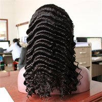 Full Lace Human Hair Wig For Black And White Woman Natural C...
