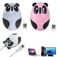 漫画ベアワイヤレスマウスの光Panda充電式マウスワイヤレスコンピューターゲームMause SEM FIOゲーマーマウスUSBパンダマウス用PCラップトップ