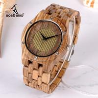 Бобо птица 2018 новое прибытие наручные часы зебра дерево кварцевые часы мужчины Китай поставщик пользовательские часы для унисекс