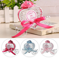 Hollow design Metal Candy Boxes Romantic Carriage Sweets Cho...