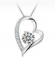 Cristais austríacos Diamantes Amor Colar de Pingente de Declaração de Coração de Moda Cristal Colares Colar de Coração de Amor Swarovski Elements Jóias