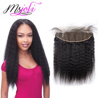 Malaysian Virgin Human Hair 13x4 Lace Frontal Kinky Straight...