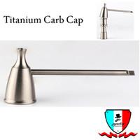 Tapa de carburo de titanio con agujero de titanio un agujero dos agujeros de tornillo para dabber en la parte superior o lateral