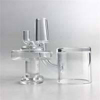 30mm XXL Quartz Banger Cappellino Carb con narghilè 4mm Thick Bottom Top piatto 10mm 14mm 18mm Clear Pyrex Glass Caps DABBER