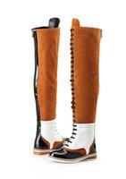 0fd912fc6184 Designer Women Fashion Wohnungen Schuhe Fashion Designer Frauen Schuhe  Superstars Mode Oberschenkel hohe Stiefel Frauen Kleid