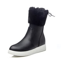 snow boots women winter boots made of faux suede with snow s...