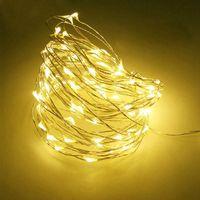 3M 30LED Funciona a Batería Led Cadena Mini LED Cadena de Alambre de Cobre Luz de Hadas Navidad Navidad Decoración Del Partido En Casa