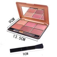 Miss Rose marca 6 colori Blush trucco cosmetico naturale fard palette in polvere affascinante guancia colore viso arrossire 7004-014n / y