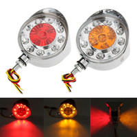 2 Pcs Double Face Red Yellow Side Marker Lights Turn Signal ...