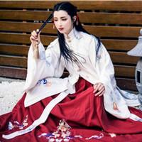 2018 verano antiguo traje chino ropa de mujer túnicas tradicionales hermosos trajes de baile hanfu sobretudo feminino vestido